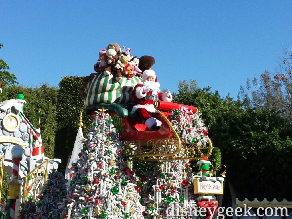 Santa in a #Christmas Fantasy Parade at #Disneyland