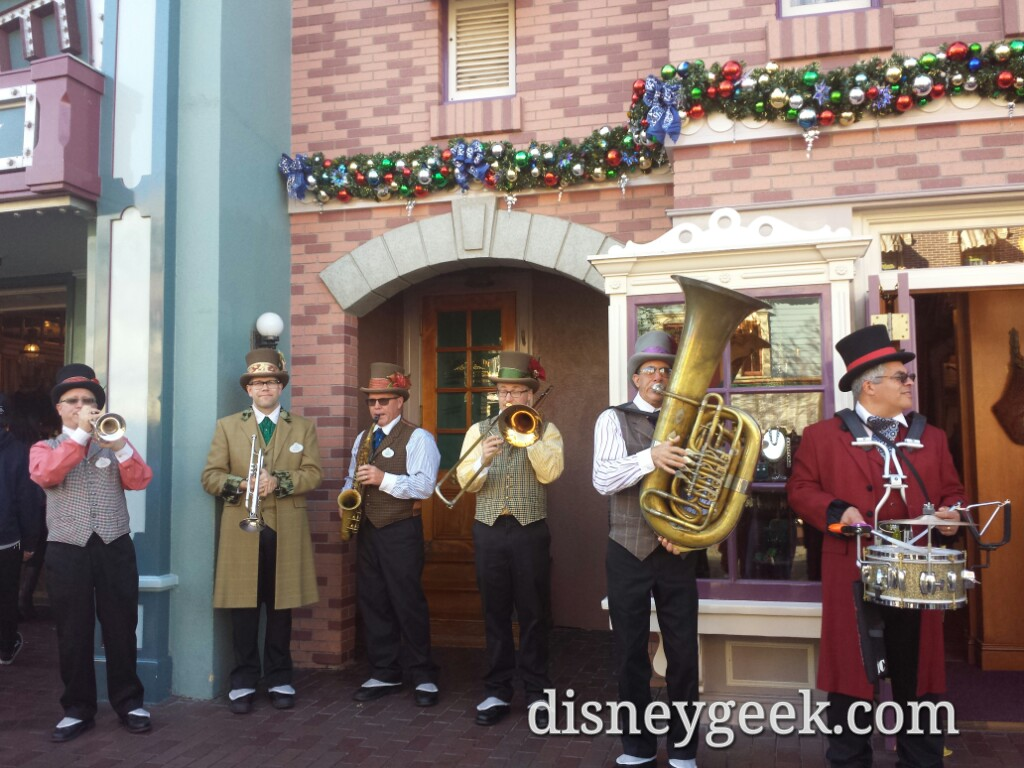 The Dickens Yuletide band on Main Street USA #Disneyland