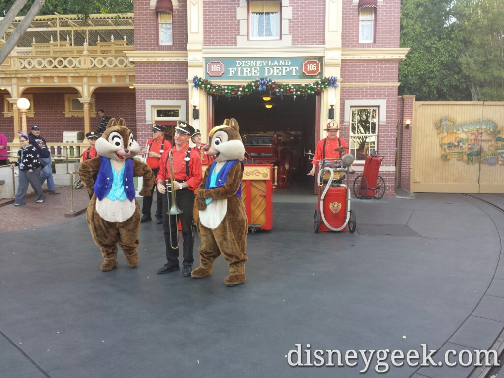 Chip & Dale with the Hook & Ladder Co #Disneyland