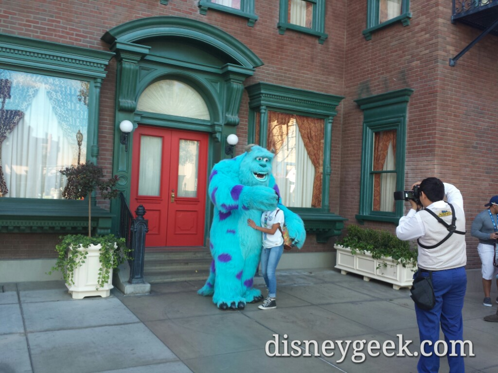 Monsters University props are long gone but Sulley is still meets on Sunset