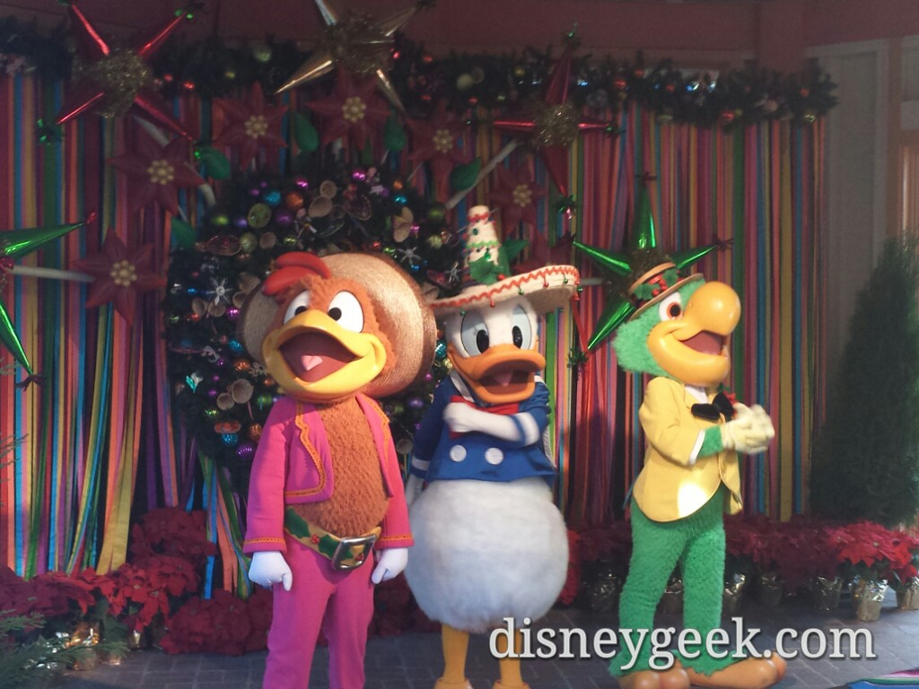 The Three Caballeros at Disney's ¡Viva Navidad! In Disney California Adventure