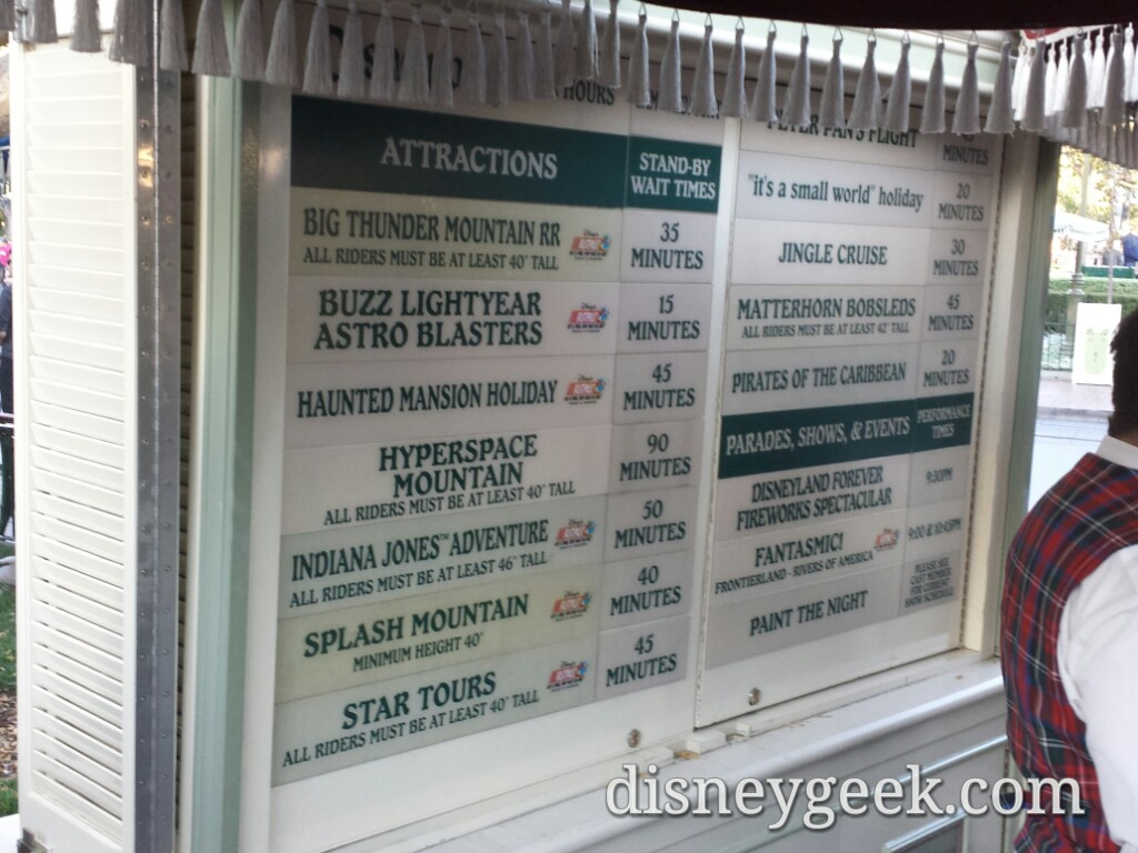 #Disneyland waits as of 3:40pm