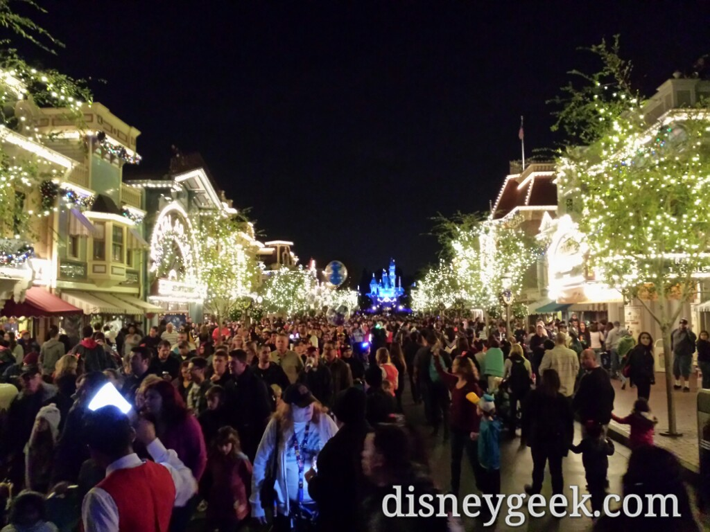 #Disneyland Main Street USA after 5:45 Paint the Night exit on left entrance on right