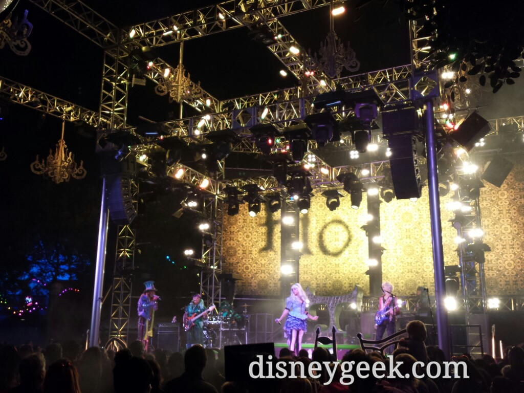 #MadTParty Band on stage as I passed by at Disney California Adventure