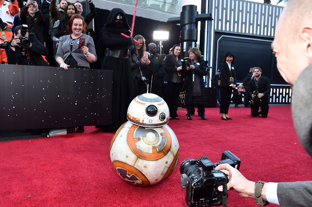 HOLLYWOOD, CA - DECEMBER 14:  Sphero BB-8 attends the World Premiere of ?Star Wars: The Force Awakens? at the Dolby, El Capitan, and TCL Theatres on December 14, 2015 in Hollywood, California.  (Photo by Alberto E. Rodriguez/Getty Images for Disney)