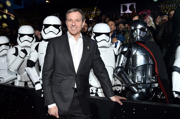 HOLLYWOOD, CA - DECEMBER 14: Chairman and CEO, The Walt Disney Company, Bob Iger attends the World Premiere of ?Star Wars: The Force Awakens? at the Dolby, El Capitan, and TCL Theatres on December 14, 2015 in Hollywood, California.  (Photo by Alberto E. Rodriguez/Getty Images for Disney)