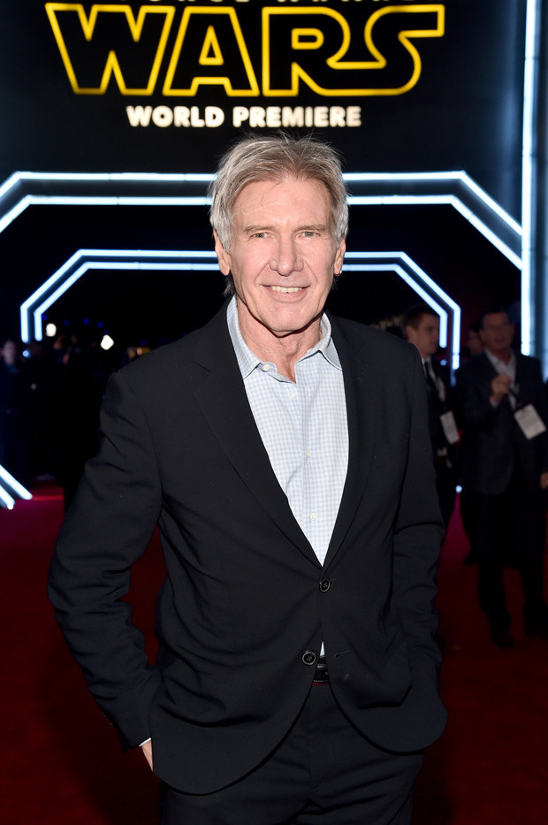 HOLLYWOOD, CA - DECEMBER 14: Actor Harrison Ford attends the World Premiere of ?Star Wars: The Force Awakens? at the Dolby, El Capitan, and TCL Theatres on December 14, 2015 in Hollywood, California.  (Photo by Alberto E. Rodriguez/Getty Images for Disney)