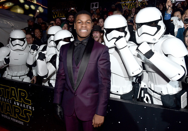 HOLLYWOOD, CA - DECEMBER 14: Actor John Boyega attends the World Premiere of ?Star Wars: The Force Awakens? at the Dolby, El Capitan, and TCL Theatres on December 14, 2015 in Hollywood, California.  (Photo by Alberto E. Rodriguez/Getty Images for Disney)