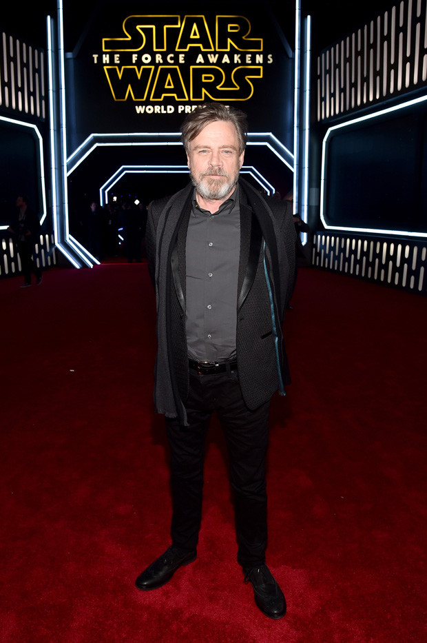 HOLLYWOOD, CA - DECEMBER 14:  Actor Mark Hamill attends the World Premiere of ?Star Wars: The Force Awakens? at the Dolby, El Capitan, and TCL Theatres on December 14, 2015 in Hollywood, California.  (Photo by Alberto E. Rodriguez/Getty Images for Disney)