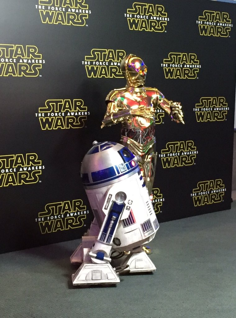 Star Wars - The Force Awakens - First of our VIP guests at the press event for