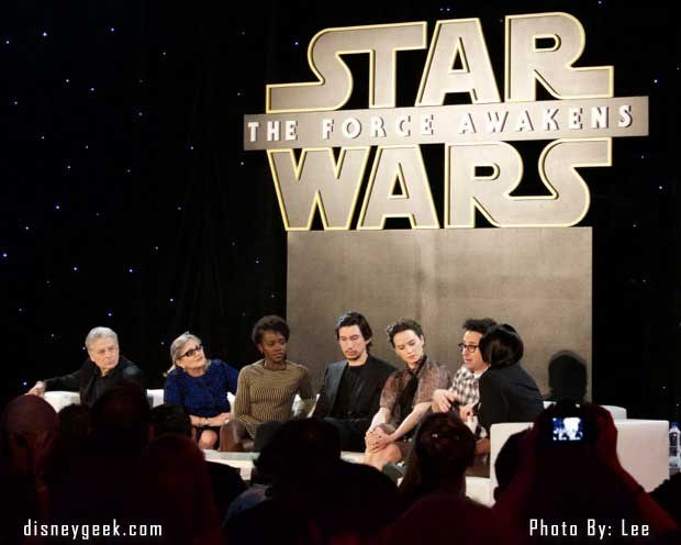 Star Wars: The Force Awakens Press Conference - Panel 1