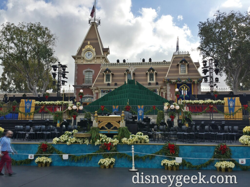 #Disneyland Candlelight stage is almost ready to go.  Sat & Sun @ 5:30 & 7:45