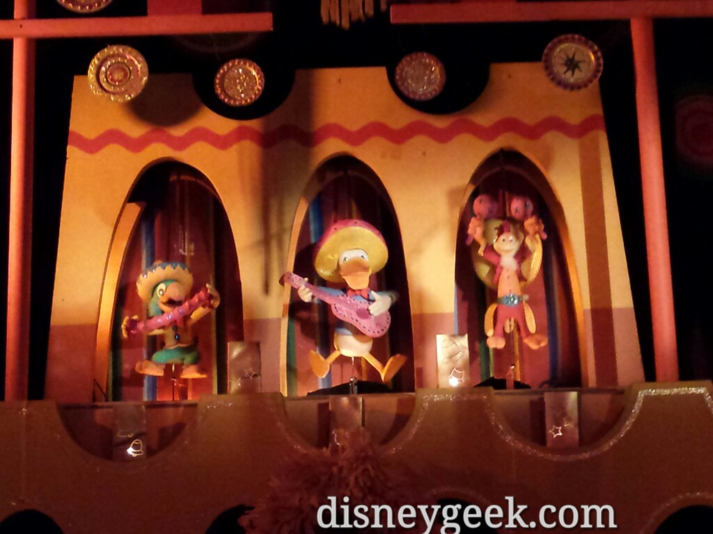 The three Cabarellos in Small World Holiday #Disneyland