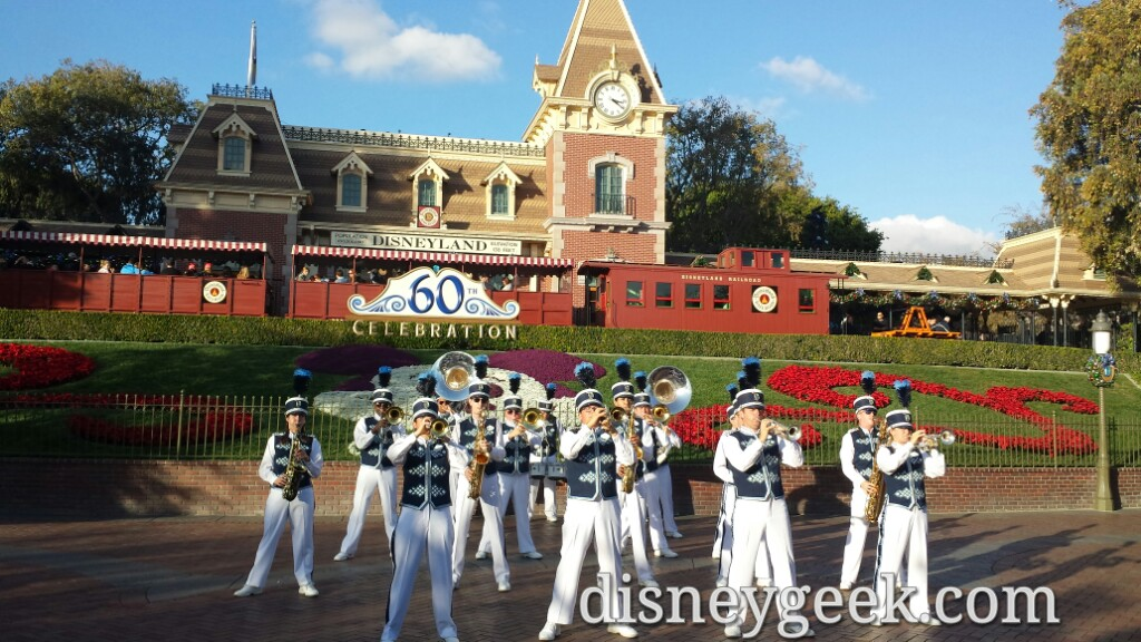 #Disneyland Band performing at the park entrance