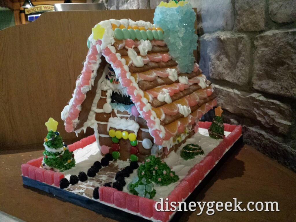 Gingerbread house is White Water Snacks at the Grand Californian
