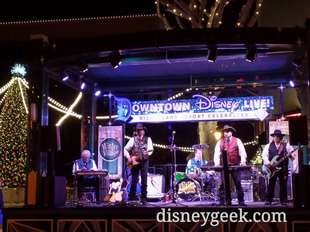 Doo-Wah Riders performing on the main stage in Downtown Disney tonight