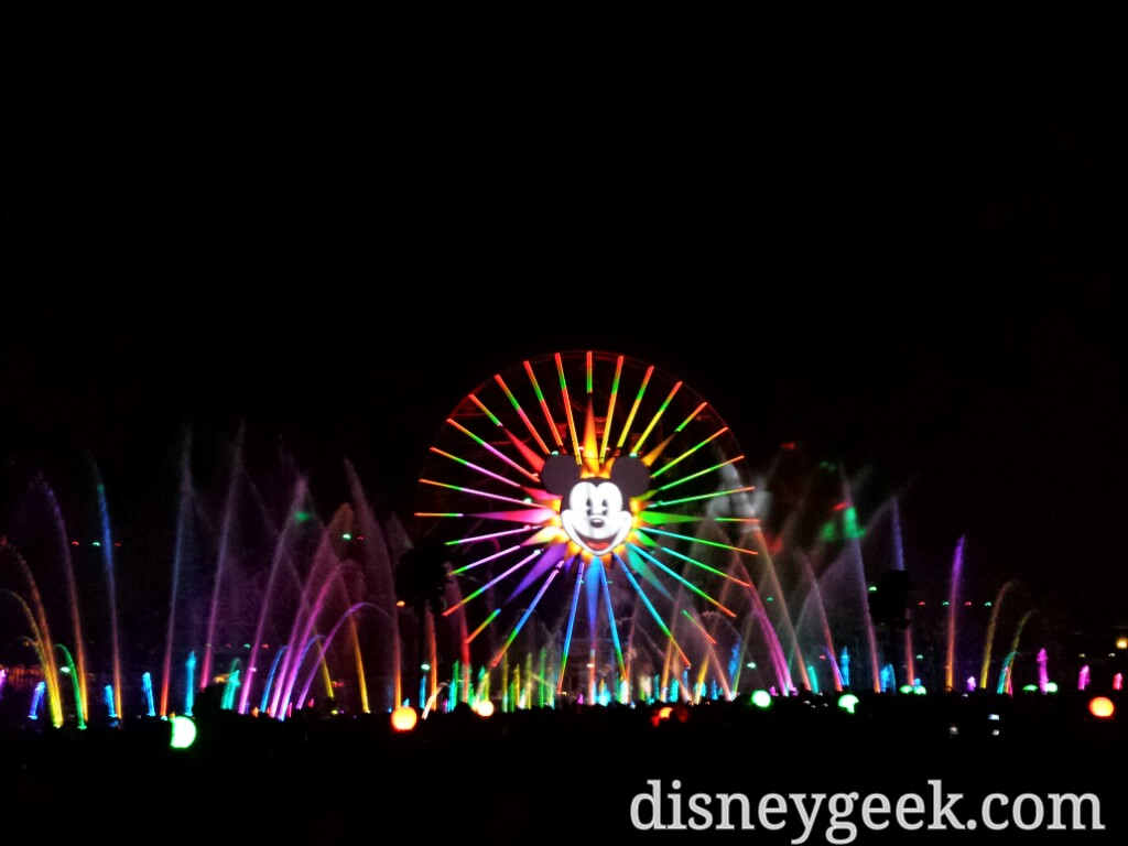 Closing out my evening with World of Color – Winter Dreams