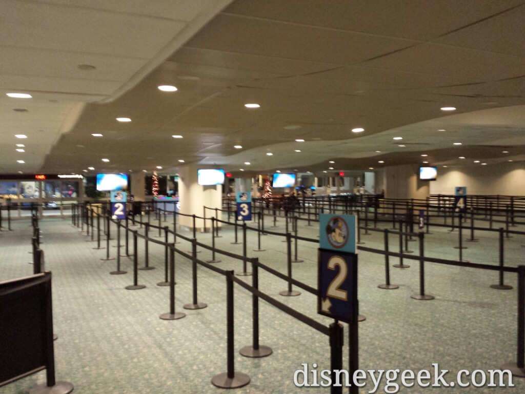 An empty Magical Express queue this morning