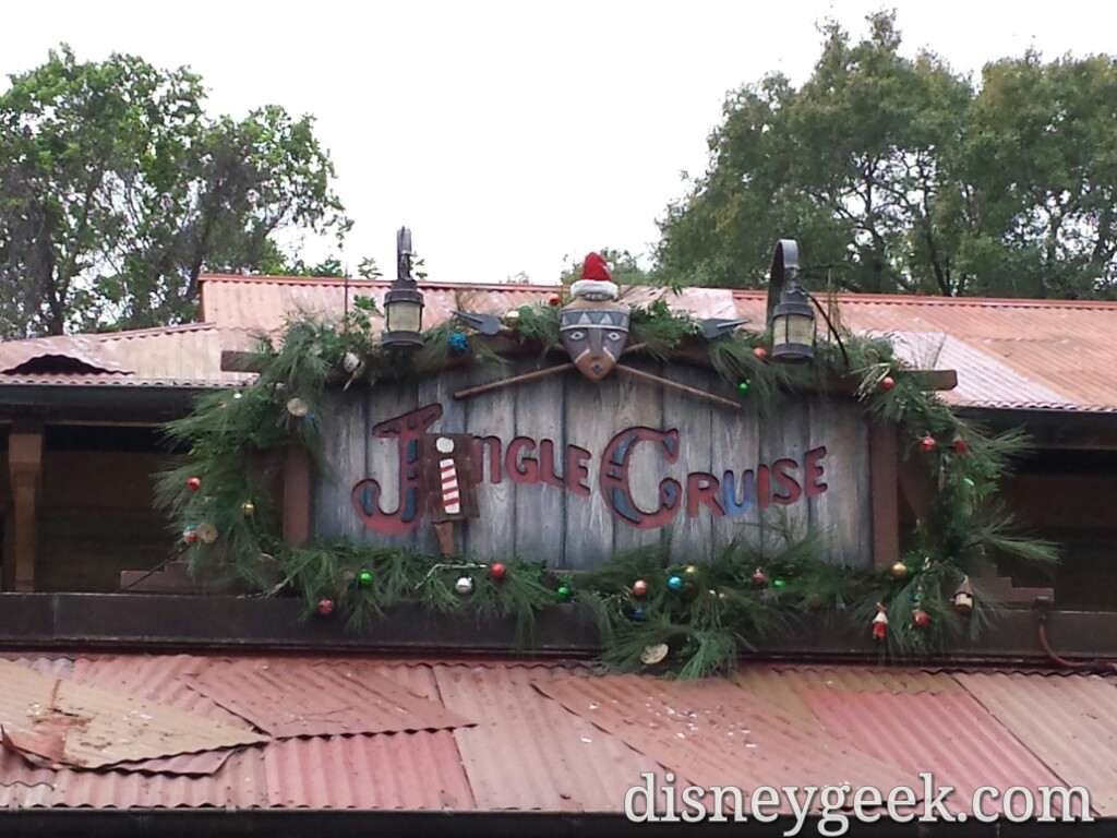 Stopped by the Jingle Cruise #WDW #DisneyHolidays