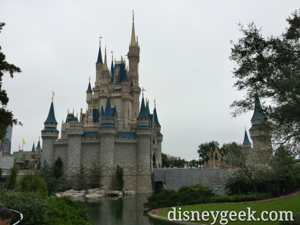 Cinderella Castle – ongoing work on the ramps