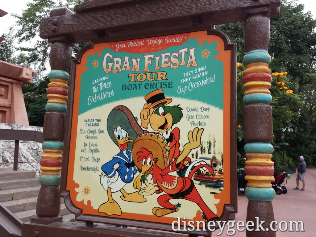 Gran Fiesta Tour was my first attraction at Epcot.