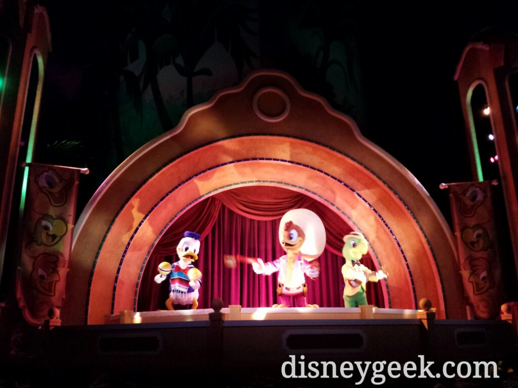 The Three Caballeros are from the original Mickey Mouse Revue at the Magic Kingdom