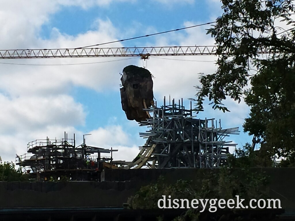 A look at Pandora construction at Disney's Animal Kingdom