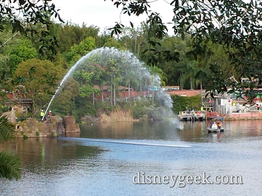 What appeared to be Rivers of Light testing at Disney's Animal Kingdom