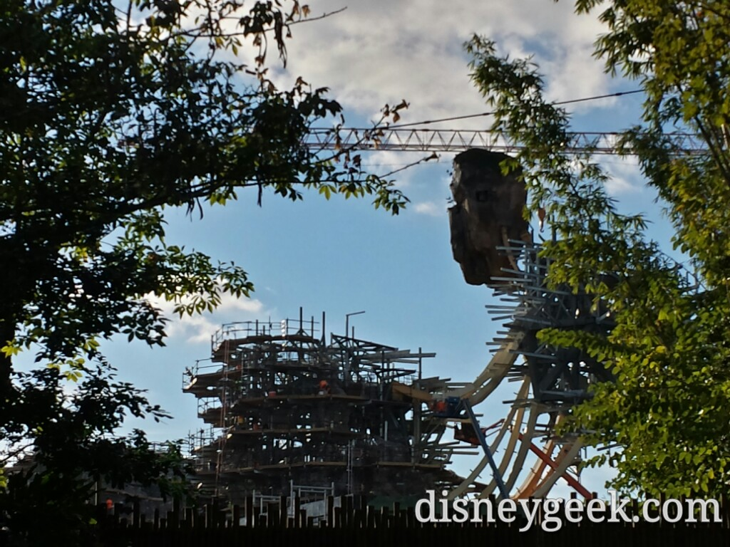 Another look at the Pandora construction at Disney's Animal Kingdom