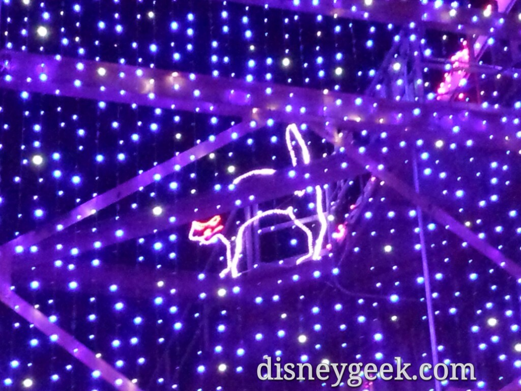 Found the purple cat quickly this year in the Osborne Lights #DisneyHolidays