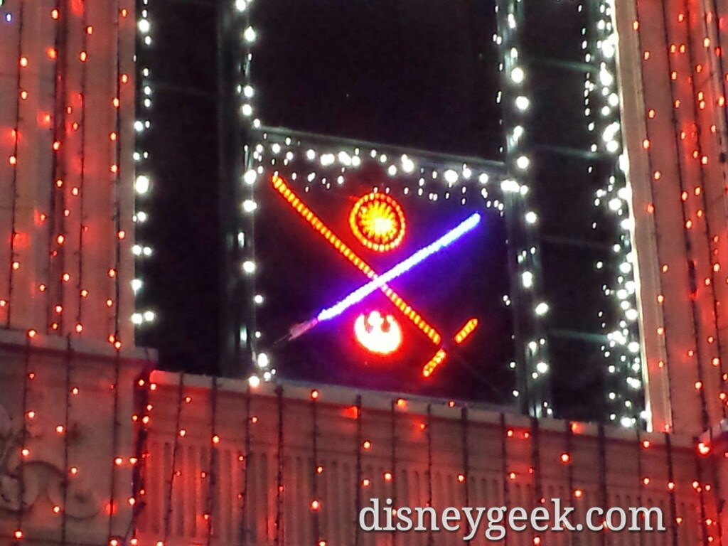 #StarWars window in the Osborne Family Lights at Disney's Hollywood Studios #WDW