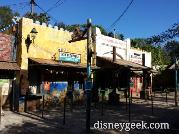 Paid a second visit to the Harambe Market, this time before it opened to take a look around with no crowd.