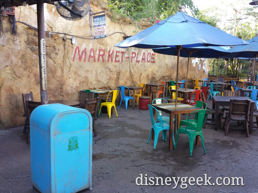 Harambe Market seating area at Disney's Animal Kingdom