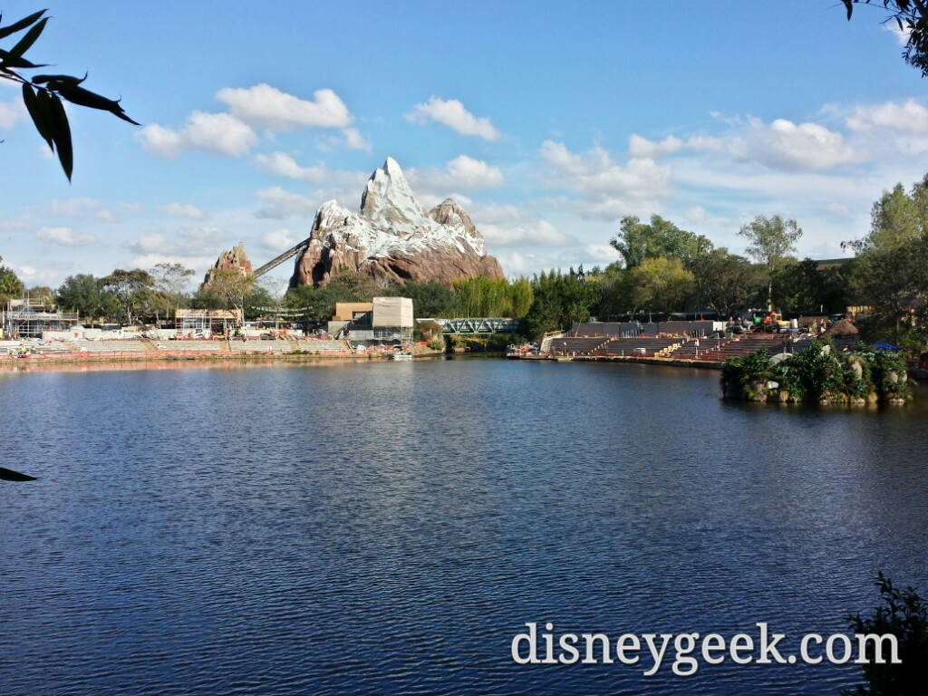 Expedition Everest & Rivers of Light construction at Disney's Animal Kingdom