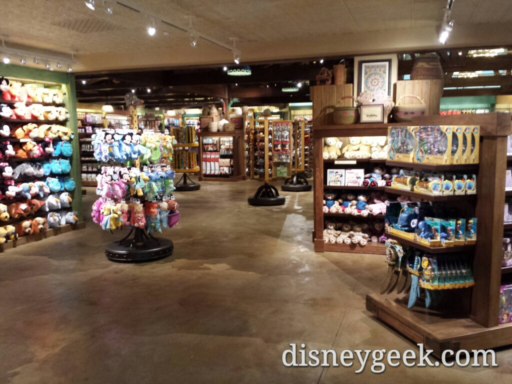 Looking into the Riverside Depot from Disney Outfitters