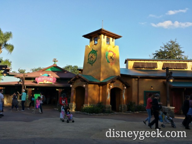 The Riverside Depot was open today.  This is an extension onto the Disney Outfitters as you enter Discovery Island