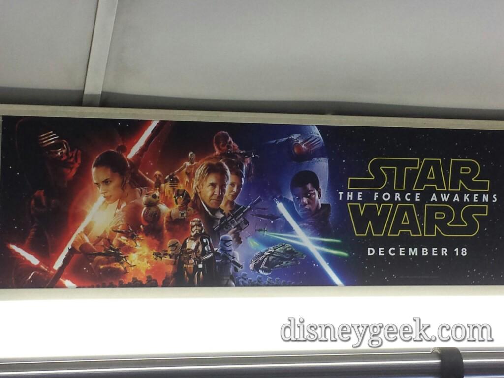 #StarWars #TheForceAwakens ad onboard a #WDW bus
