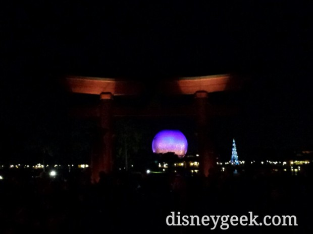 After dinner headed to Epcot for a couple hours.