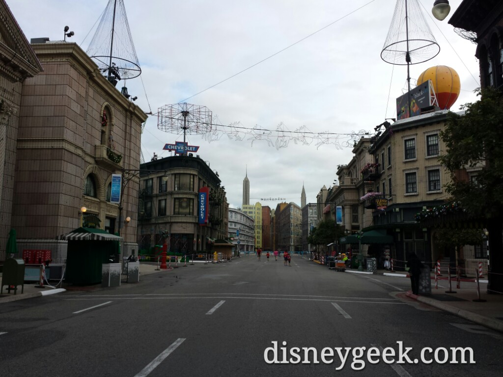 All is quiet on the Streets of America at this hour