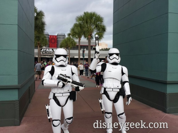Storm Troopers patrolling near the Animation Courtyard (think it is still called that)