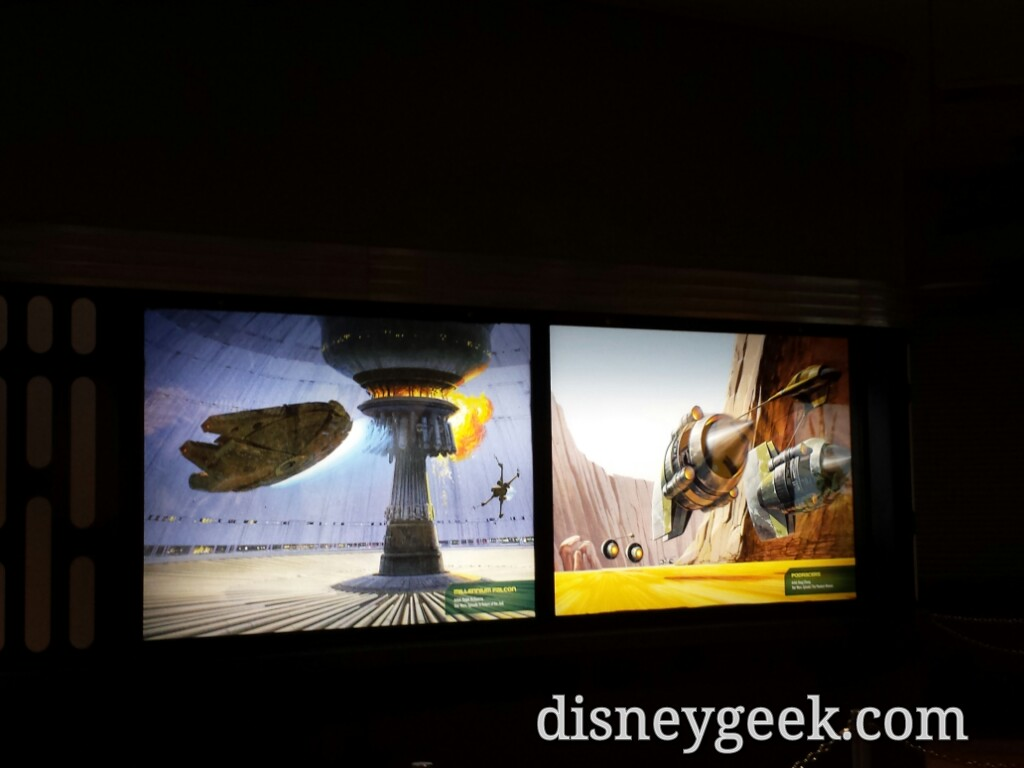 #StarWars Launch Bay queue features concept art at Disney's Hollywood Studios #WDW