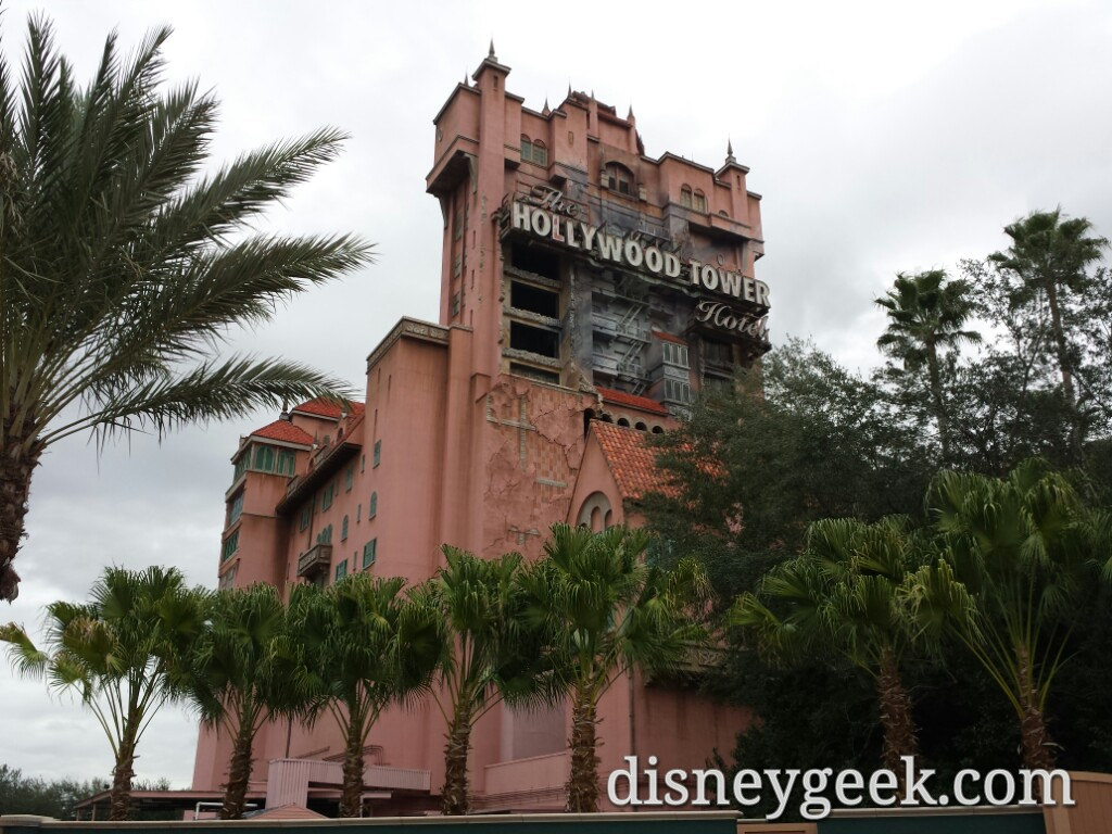 Tower of Terror from outside Club Disney at Disney's Hollywood Studios