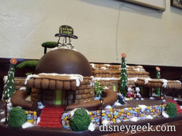 Hollywood Brown Derby gingerbread display