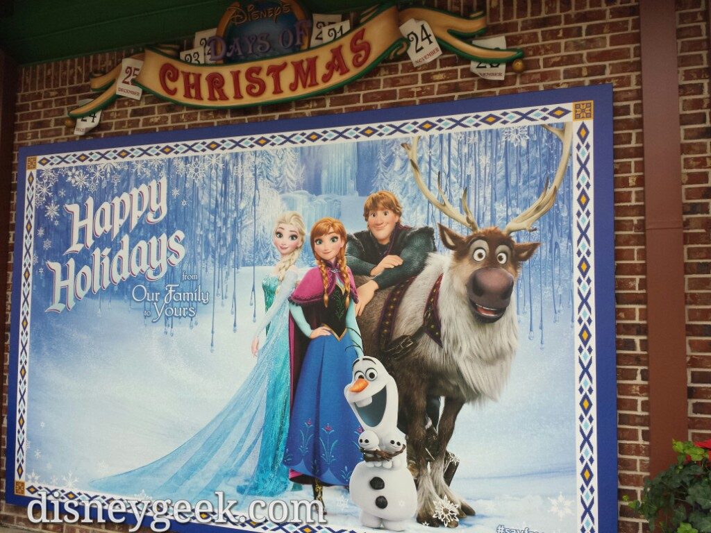 A #Frozen photo op near the Christmas Store in Disney Springs