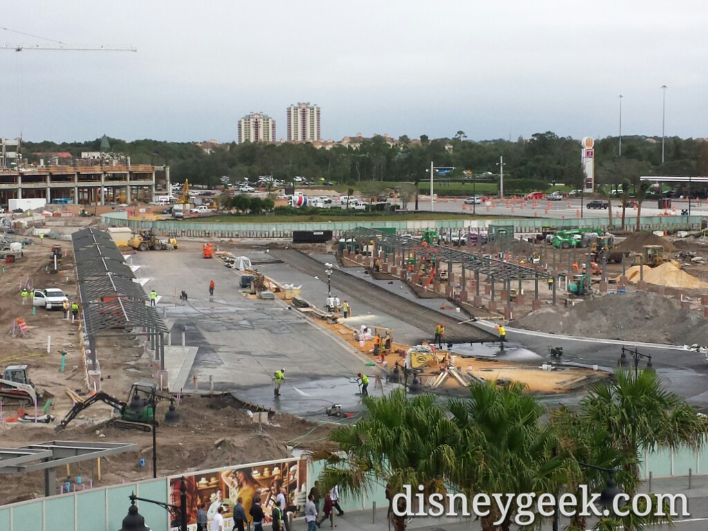 The new Disney Springs Bus area construction