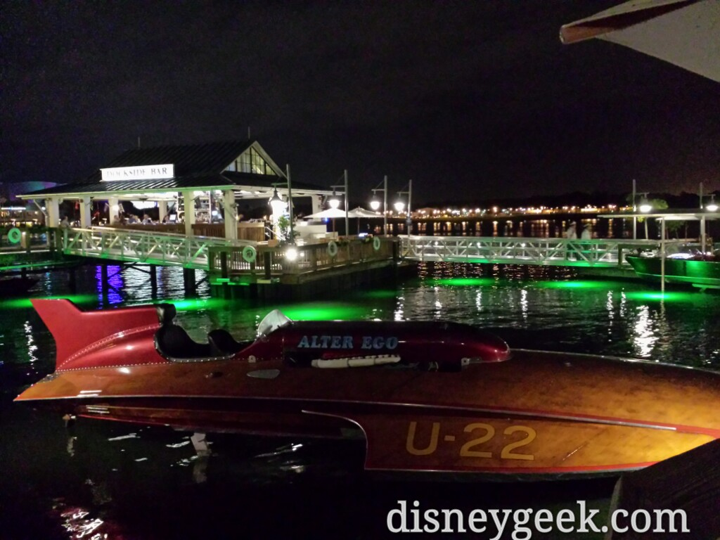 Walked back by the Boathouse boats after dark to wrap up my Disney Springs visit
