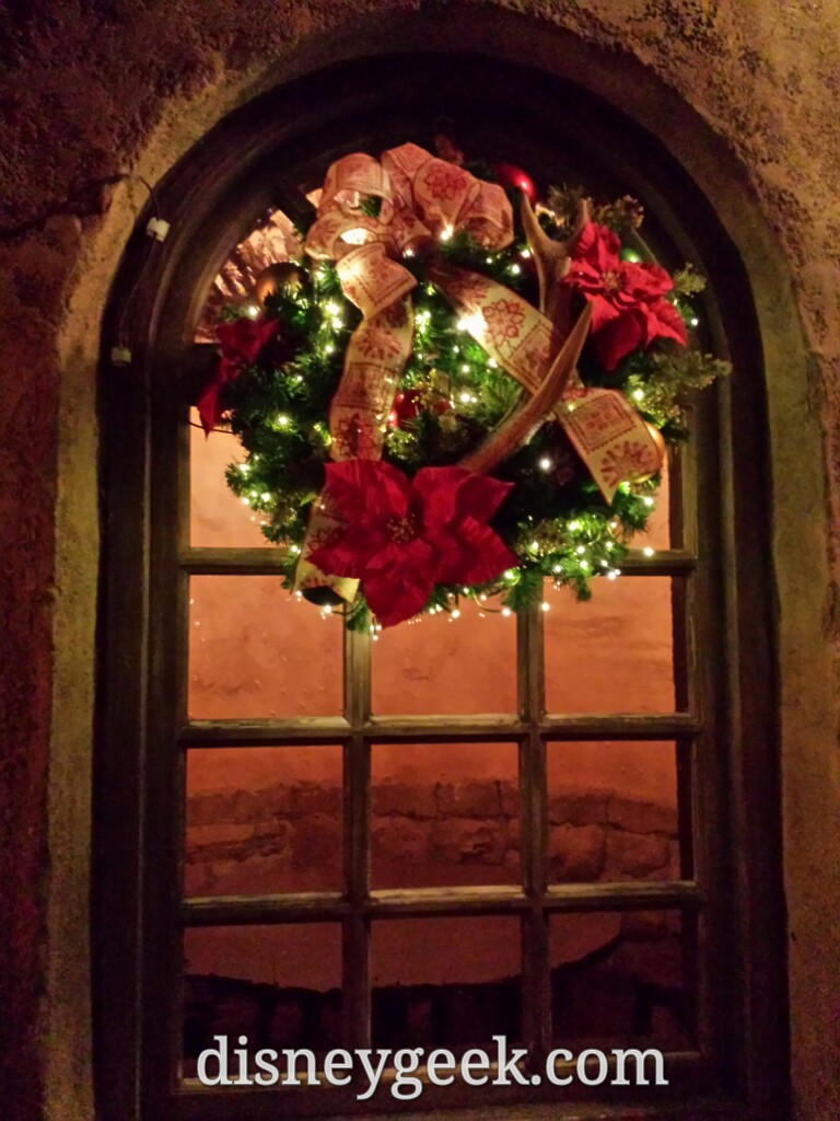 A wreath on Gastons in Fantasyland
