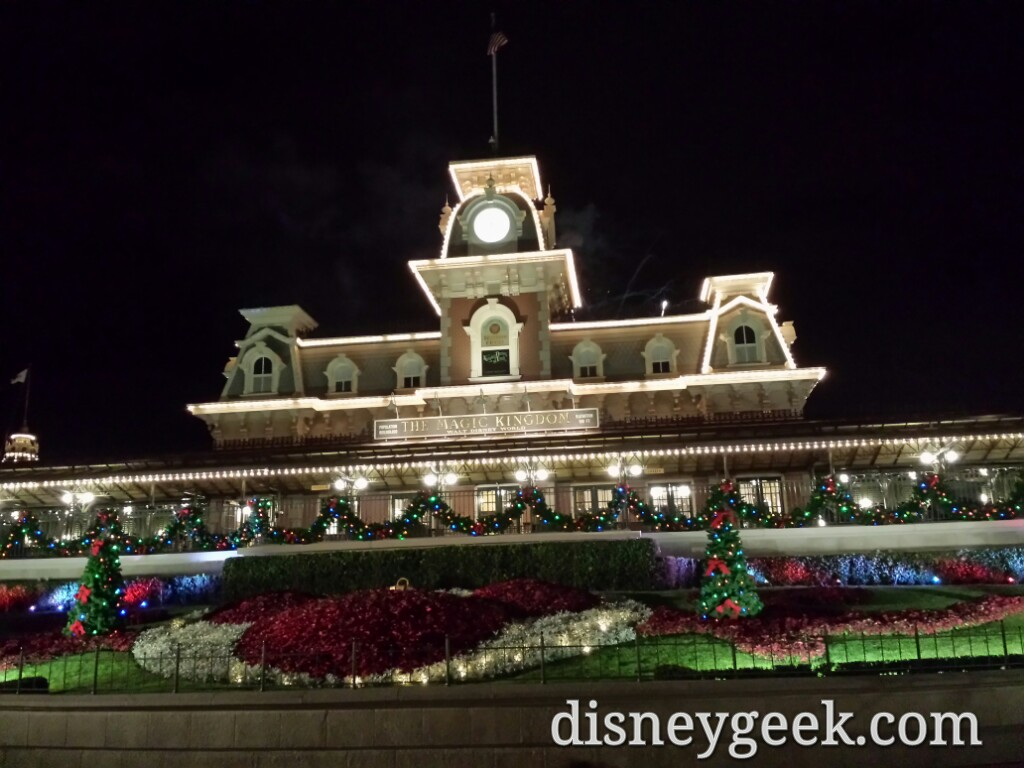 Main Street USA train station this evening at the Magic Kingdom #WDW