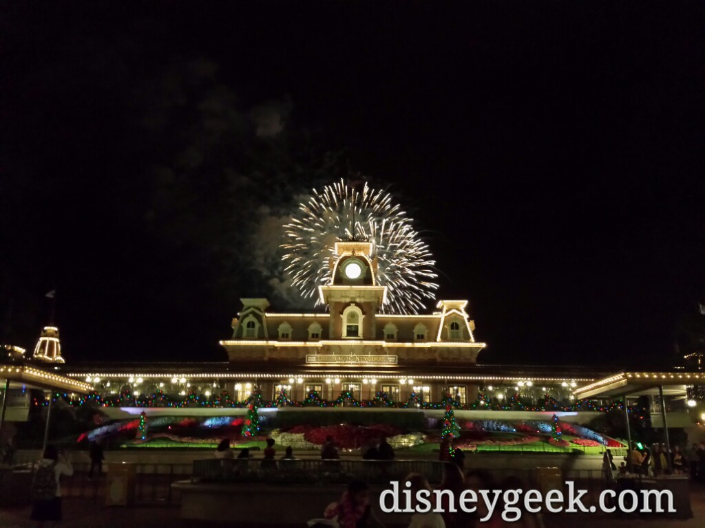 Wishes behind the train station as I leave the Magic Kingdom #WDW