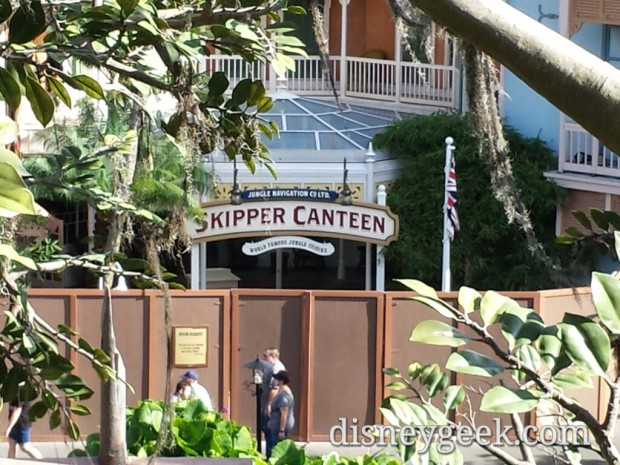 No visible progress on the Skipper Canteen - walls still up